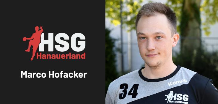 Neuzugang Marco Hofacker
